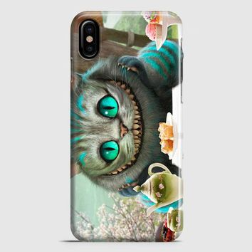 Alice In Wonderland Cat iPhone X Case