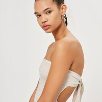 Tie Back Bandeau Mini Dress | Topshop