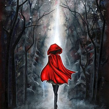 Little Red Riding Hood Art Print by Annya Kai