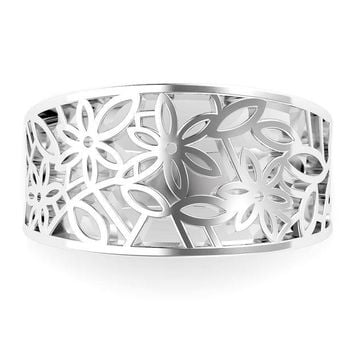 ONETOW 925 Sterling Silver Victorian leaf Filigree Ring