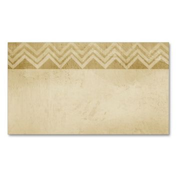 business card template vintage look chevron