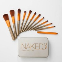 NAKED Makeup Brushes 12PC High Quality Makeup Brush Set Eyebrow Shadow Powder Foundation Brush Kit Full Professional Makeup Kit