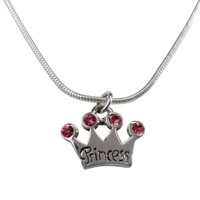 Cherished Moments Sterling Silver Princess Tiara Charm Necklace