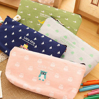 Student Pen Pencil Case Cosmetic Makeup Bags Stationery Back To School Chic
