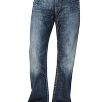 Silver Wide Stitch Jeans, Dark Blue - Relaxed Fit | Men's Wearhouse