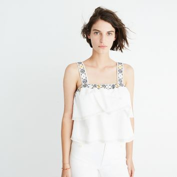 Embroidered Tier Top : shopmadewell AllProducts | Madewell