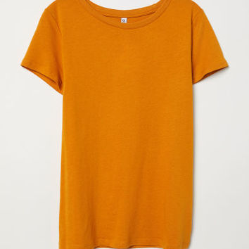 T-shirt - Dark yellow - Ladies | H&M US