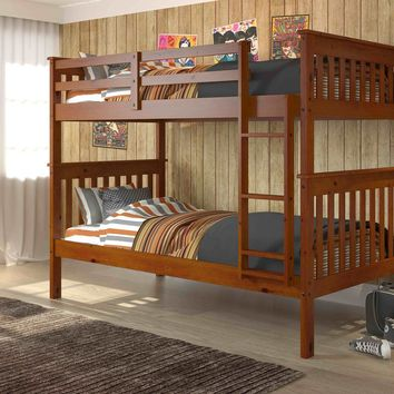 Benjamin Espresso Bunk Bed for Kids