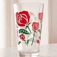 Roses Pint Glass | Urban Outfitters