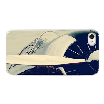 Iphone Case - Airplane Flying Propeller Silver Plane Aviation Pilot Gift - Iphone 4 4s Cover