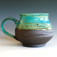 Large Coffee Mug Holds 16 oz handmade ceramic cup by ocpottery