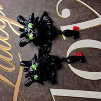 Handmade Polymer Clay Toothless Earrings (How To Train Your Dragon)