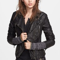 Women's Free People Hooded Faux Leather Moto