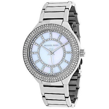 NEW Michael Kors MK3395 Women's Kerry Mother of Pearl Dial Stainless Steel Watc