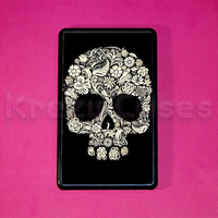 Kindle Fire Case -Floral Skull kindle fire case- Amazon Kindle fire HD case
