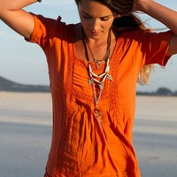 Tarni Top Burnt Orange - Arnhem Clothing