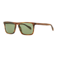 Men's Bernardo Rectangular Sunglasses, Matte Sandalwood - Oliver Peoples - Light brown