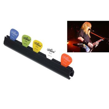 Microphone Mic Stand Pick Holder Hold 5 Bass Guitar Picks Clip On Micstand On Stage - Alice A010D guitar pick holder