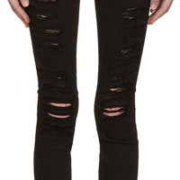 Black Le Color Ripped Jeans