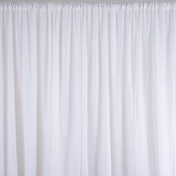 Hanging White Sheer Silk Drapes Panels Curtains 2.4x1.5M Photo Backdrop Wedding Party Events Decoration Textiles Supplies