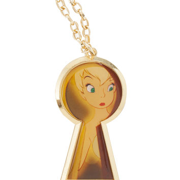 Disney Tinker Bell Keyhole Necklace