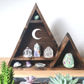 Hanging Crescent Moon - Triangle Mountain Shelf