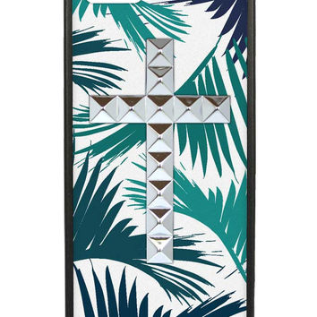 The Palms Silver Studded Cross iPhone 5/5s Case