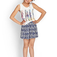 Tribal Print Skater Skirt (Kids)