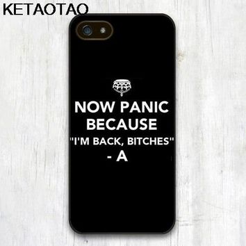 KETAOTAO Hipster pretty little liars are back bitches Phone Cases for iPhone 4 5C 5S 6S 7 8 Plus X Case Soft TPU Rubber Silicone