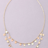 Tiny Coins Double Layer Necklace - Gold or Silver
