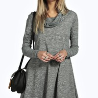 Anabelle Roll Neck Swing Knitted Dress