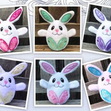 Plush Easter Bunny, Peekaboo bunny, Surprise Bunny, Easter egg Bunny, Custom Made to Order Toy Bunny