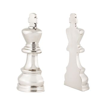 Zugzwang Chess Piece Book Ends - Set of 2