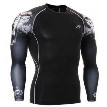 summer mens sports athletic top compression shirts for men long sleeve electric skateboard tshirts 3d base layer 3xl