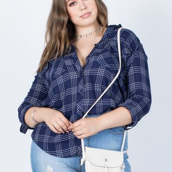 Plus Size Easy Livin' Plaid Top