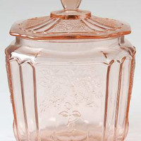 Anchor Hocking Mayfair Pink Cookie Jar with Lid