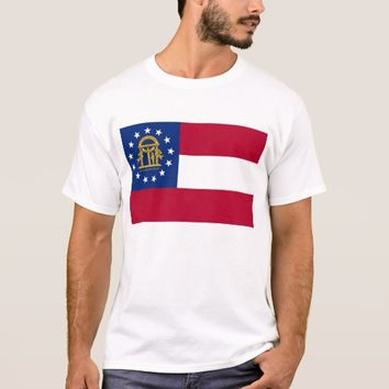 T Shirt with Flag of Georgia State USA