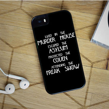 american horror story four seasons iPhone 5(S) iPhone 5C iPhone 6 Samsung Galaxy S5 Samsung Galaxy S6 Samsung Galaxy S6 Edge Case, iPod 4 5 case