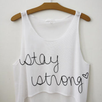 stay strong croptop