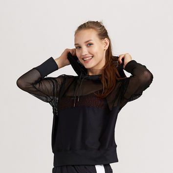 Sports Casual Hoodies Stylish Quick Dry Jogging Gym Yoga Jacket [10544458759]