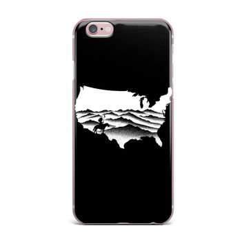 "BarmalisiRTB ""Native American"" Black White Digital iPhone Case"