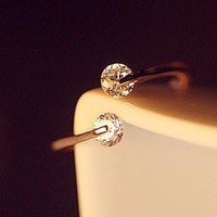 Stylish New Arrival Shiny Gift Accessory Simple Design Gold Jewelry Ring [6586198855]