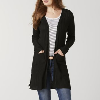 Women's Ribbed Long Cardigan