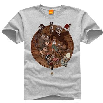 2017 New Gravity Falls T-shirt Game men t shirt Cotton Summer Short-sleeve Tees tops