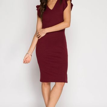 Burgundy  Womens Casual Dresses Sweater Dresses ,Jersey, Boat Neck and Much More