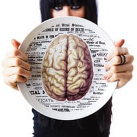 Sourpuss Clothing Brain Plate White One