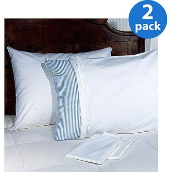 Allergy Relief Pillow Protectors, 2-Pack White Standard