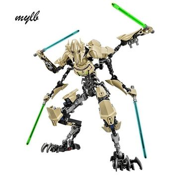Star Wars Force Episode 1 2 3 4 5 mylb 183PCS  7 General Grievous With Lightsaber Storm Trooper w/Figure Toys Building Blocks Set Compatible With DIY AT_72_6