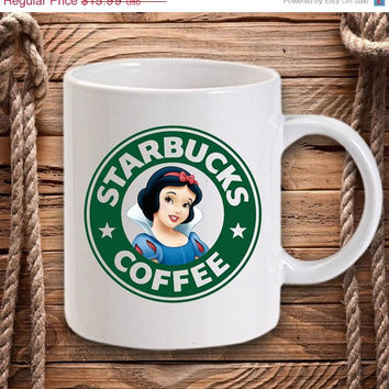 ON SALE Snow White Starbucks for Mug design by DarastyShop