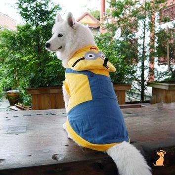 Funny Halloween Large Dog Minions costume